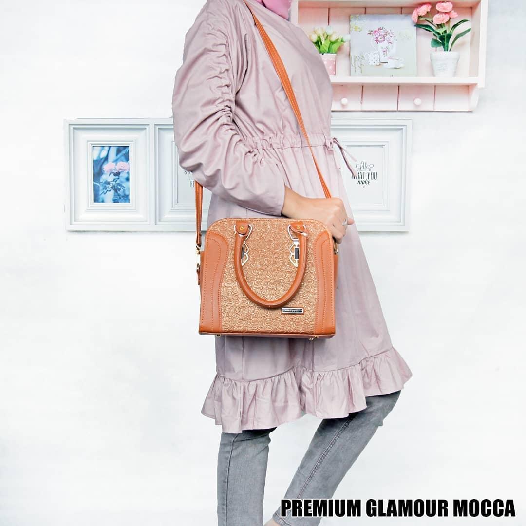 Tas Wanita Sling Bag Premium Glamour - Navy - 3 .