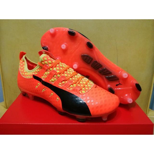 Sepatu Bola - Soccer Puma evoPOWER Vigor 1 Orange Clown Fish - FG