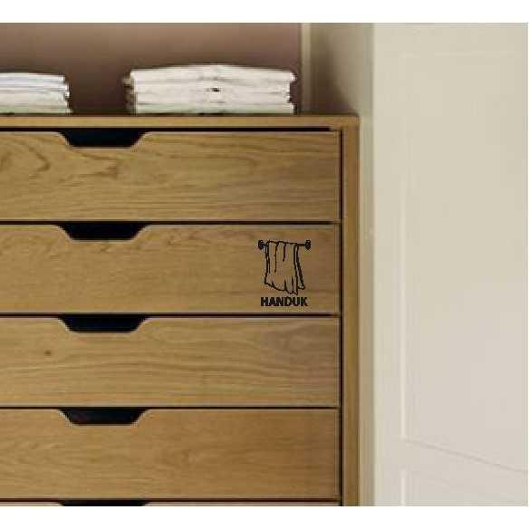 Best Seller!!! Stiker Nama Fashion Cabinet Rak Kitchen Set Sticker Dapur Custom Tag Murah Cantik dan Elegant
