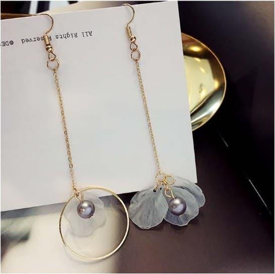 original IMPORT Anting Korea Kait Telinga Panjang Bunga Tassel Earrings / antikng cantik /aksesoris anting
