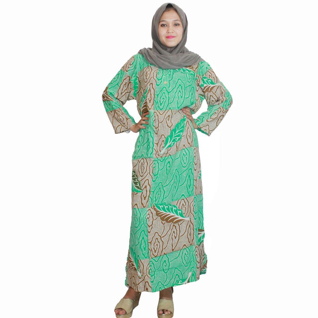 Longdres Batik, Daster Lengan Panjang, Baju Tidur, Kancing, Daster Bumil - Busui (LPT001-06)