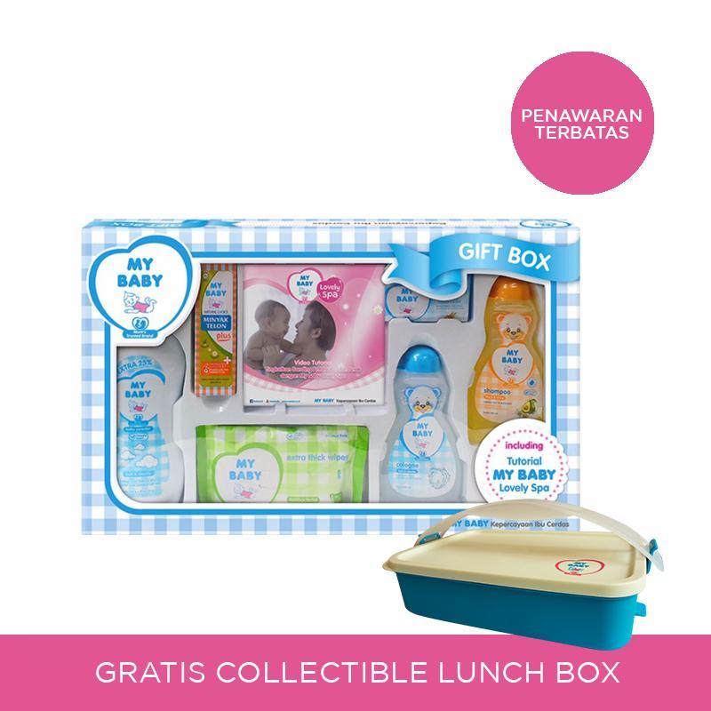 [Free Lunchbox] My Baby Gift Box Perawatan Kulit Bayi - Blue [600 g]