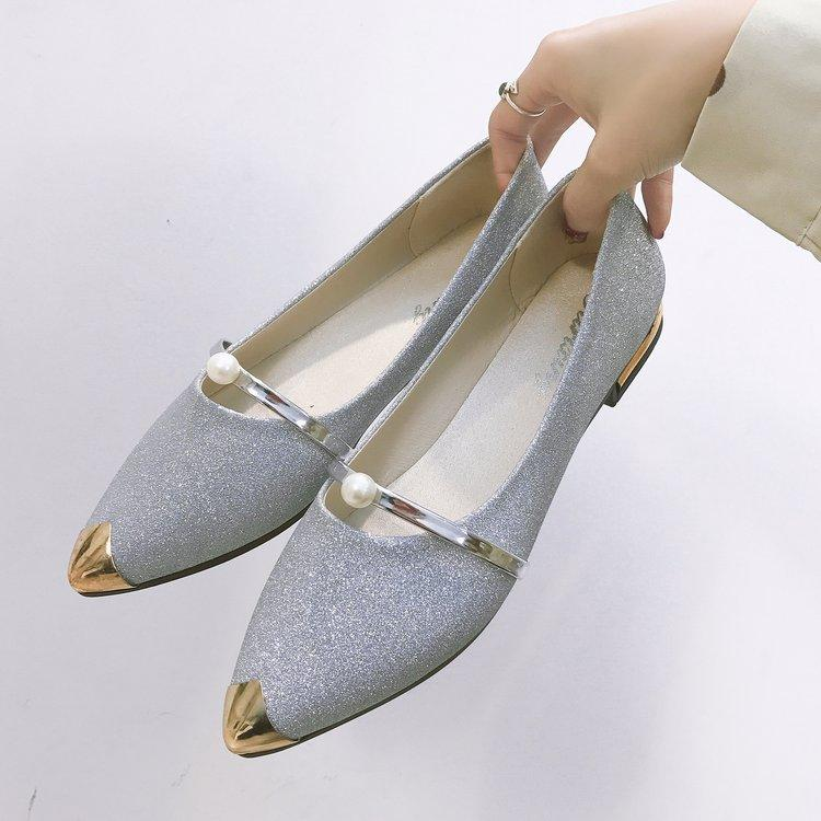 2018 Spring Summer New Style Shoes women Shoes Pearl Pointed Flat Top Shoes  Korean Style Versatile 32b609d7060c