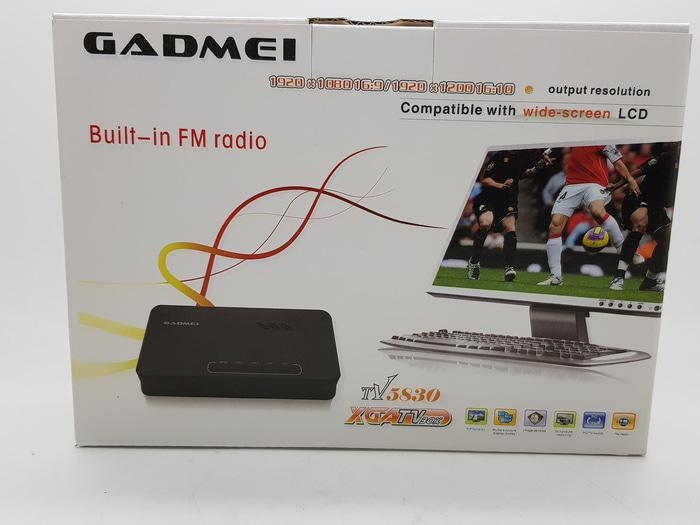 TV Tuner Gadmei 5821 New/Converter AV to VGA untuk Monitor CRT/LCD/LED