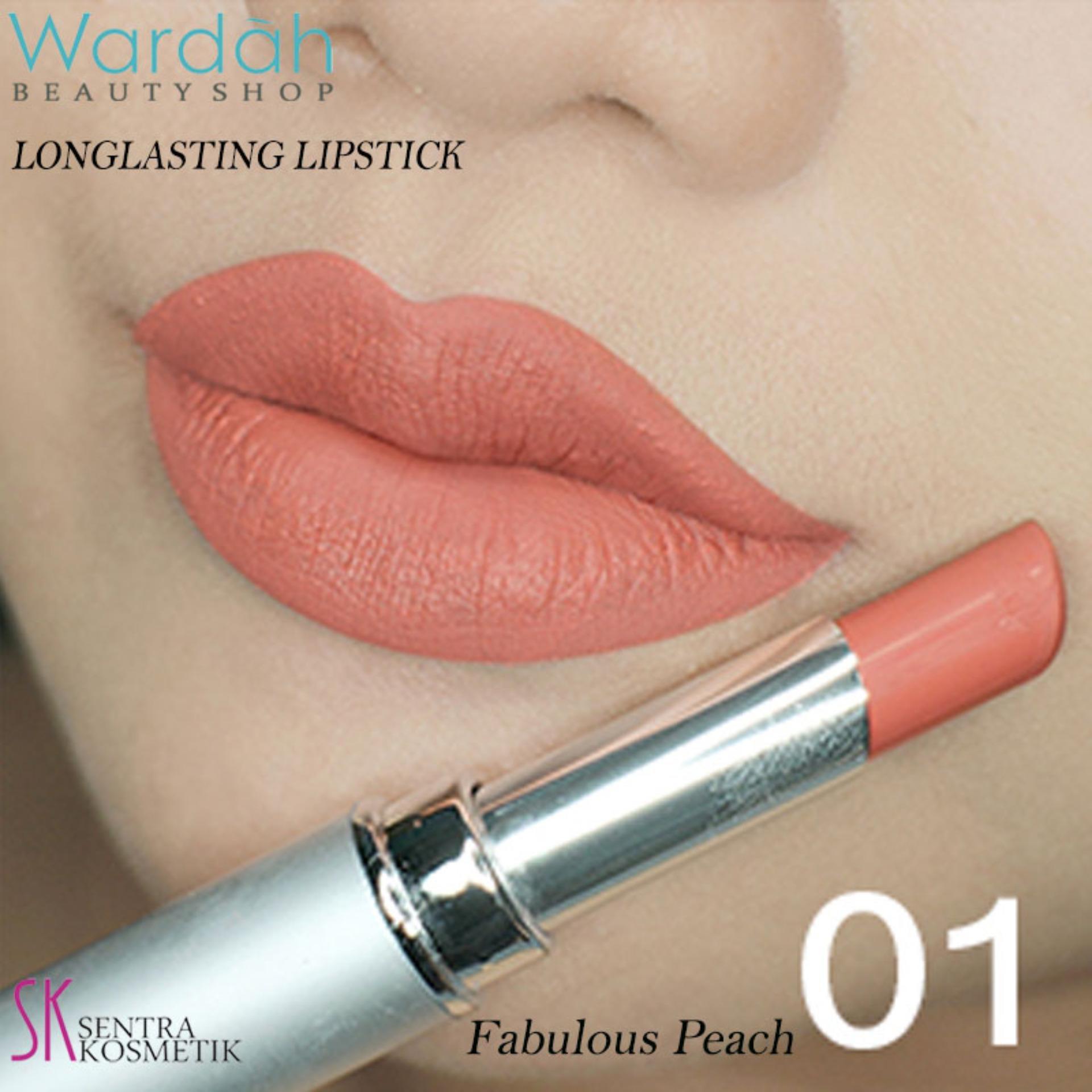 Wardah LONGLASTING Lipstick No 01 Fabulous Peach