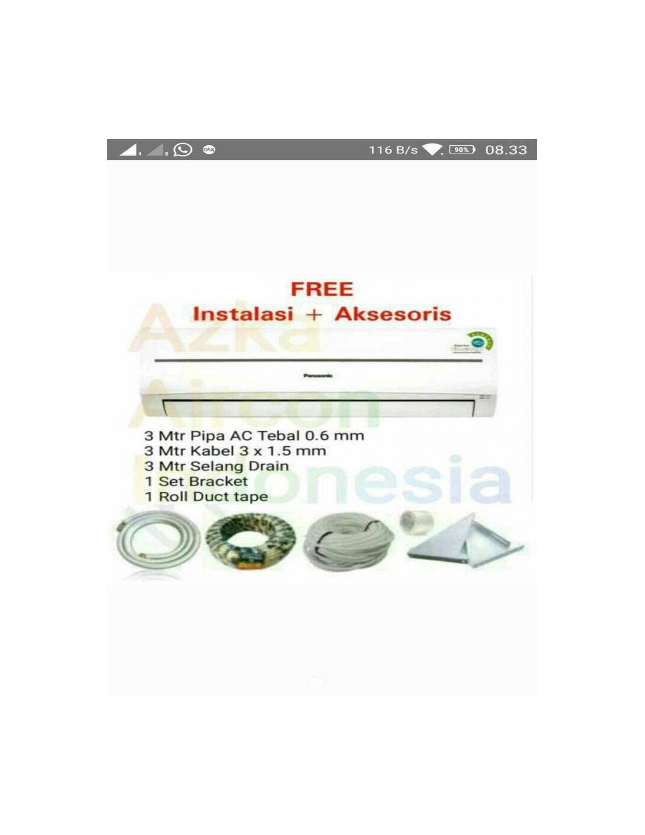 Buy Sell Cheapest Panasonic Ac 2 Best Quality Product Deals Split 1 Pk Yn 05 Skj Putih Free Ongkir Pemasangan Khusu Area Jabodetabek Cs Cu Pn 12