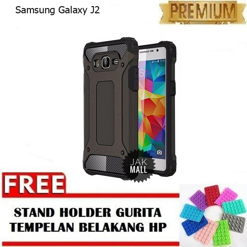Jak Shop Black Panther Softcase Samsung Galaxy J2 - Black - FREE Holder Gurita