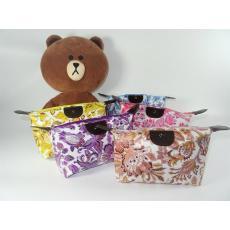 (Bunga Rose dan Batik) Pouch Tas Kosmetik Bag Make Up Body Lotion