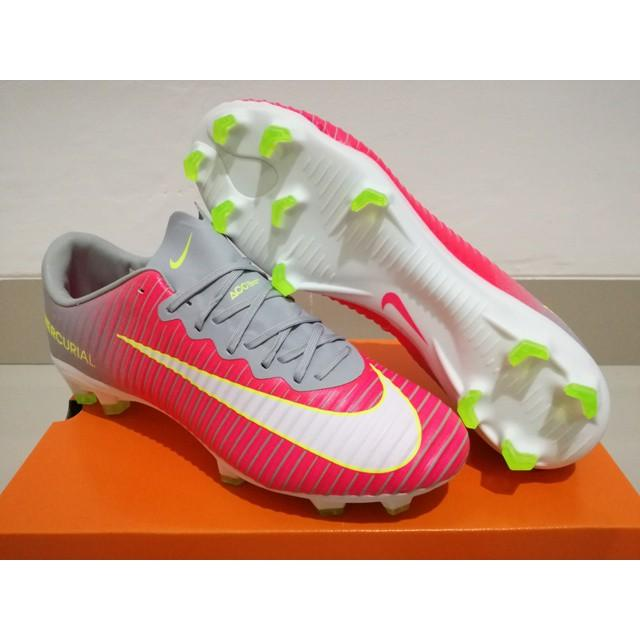 Sepatu Bola - Soccer Nike Mercurial Vapor XI Hyperpink Wolf Grey - FG