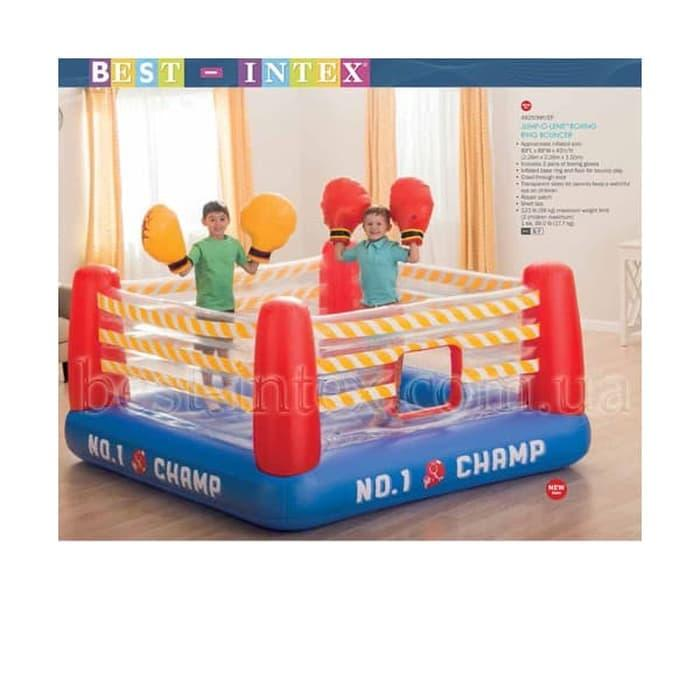 Intex Jump-O-Lene Boxing Ring Bouncer. Mainan Anak Trampolin Tinju