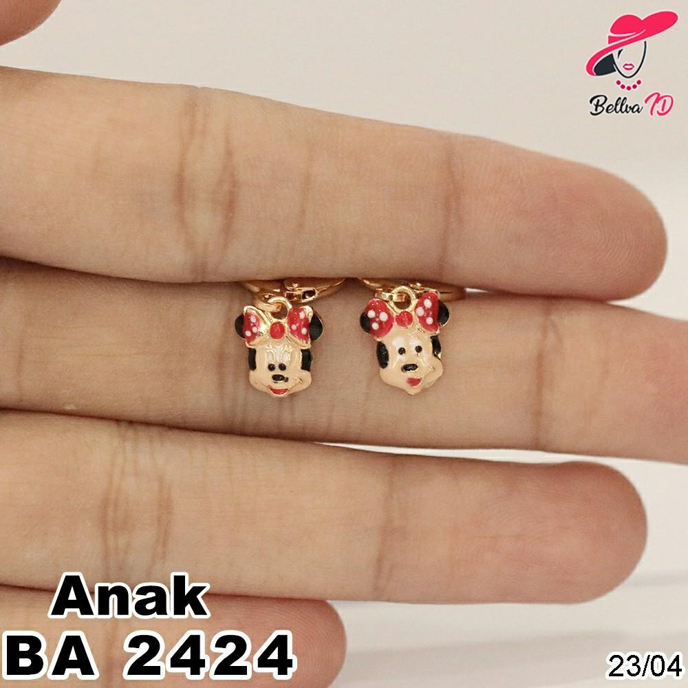 Jual Perhiasan Anting Emas Minnie Mouse Simple Kekinian A 2424 Anak