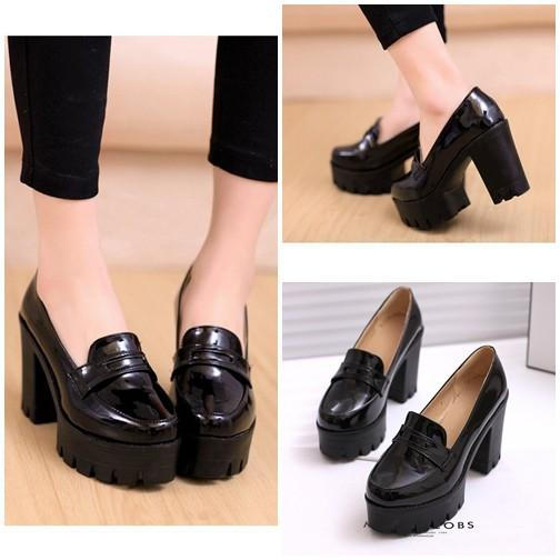Sepatu Fashion Wanita SHH20162-Black Sepatu Flat Wanita Cantik 11CM Batam Wanita