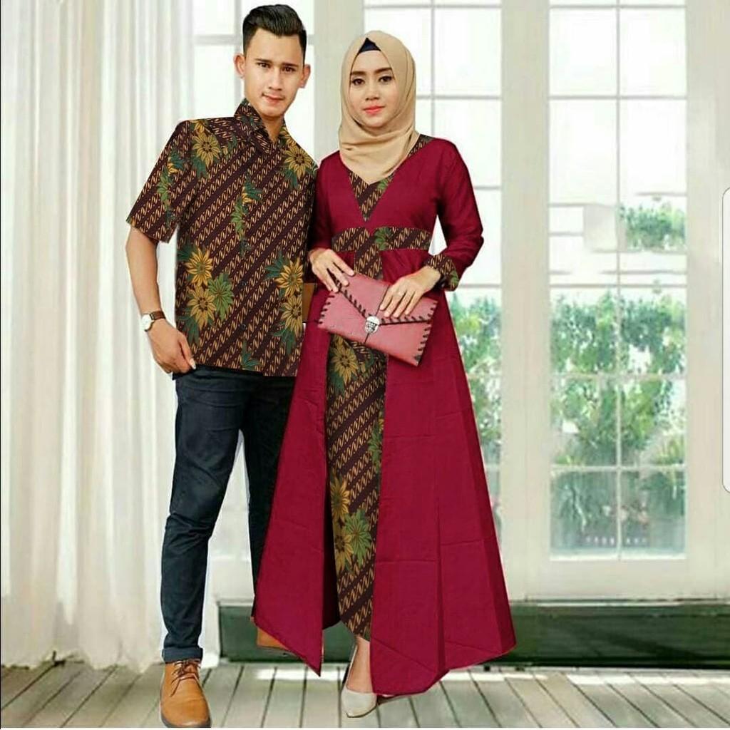 Couple Hanny Kebaya Modern Batik Baju Pasangan Pesta Murah Linda TG