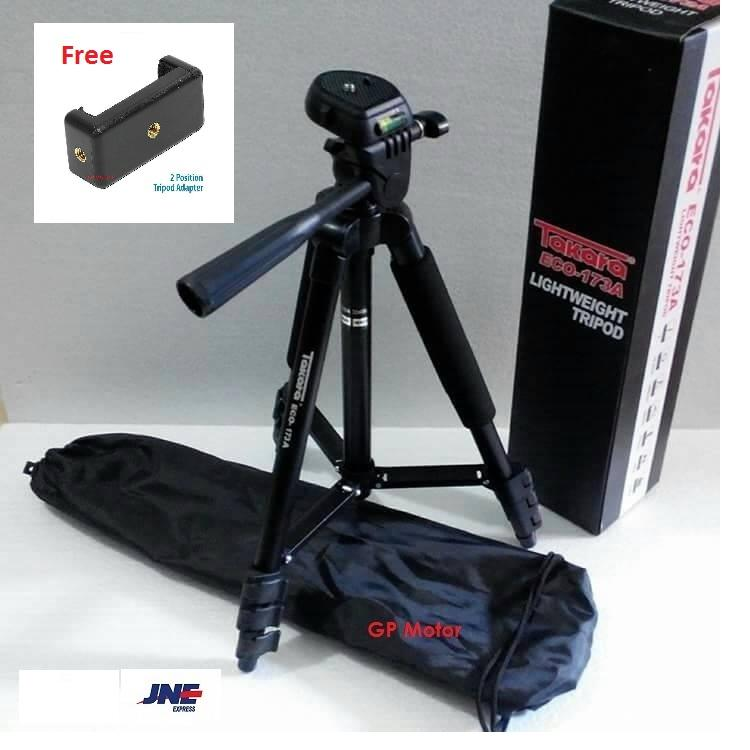 Tripod Takara Eco 173A 1 Meter Free Tas Holder U For HP Handphone Handycam