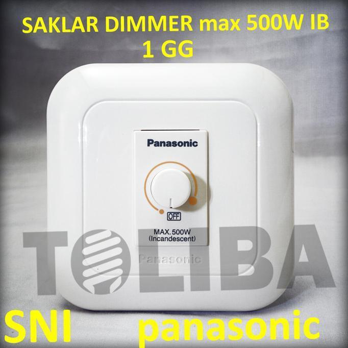 SAKLAR DIMMER INBOW IB PANASONIC 500W WEJ57515 / PEREDUP CAHAYA LAMPU - ELEKTROZONE