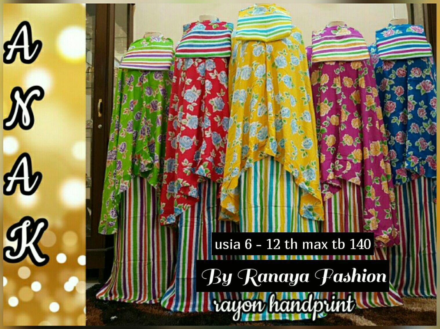 Mukena anak katun bali - Ranaya Fashion
