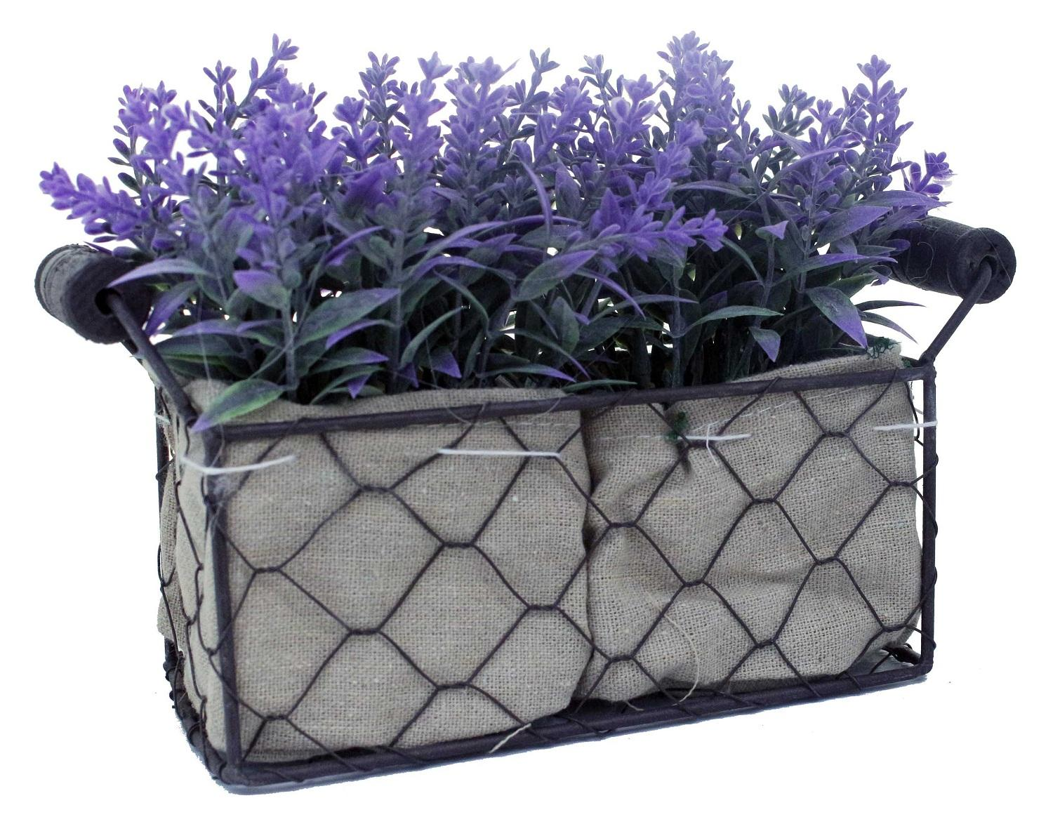 JYSK Tanaman Palsu ARTIFICIAL FLOWER LAVENDER WITH IRON VASE MEDIUM