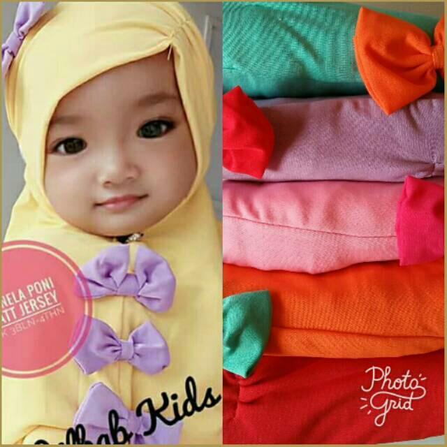 Kerudung Anak Bayi syiria monela / Jilbab Anak Bayi / Jilbab Bayi / Hijab Pashmina Instan Anak