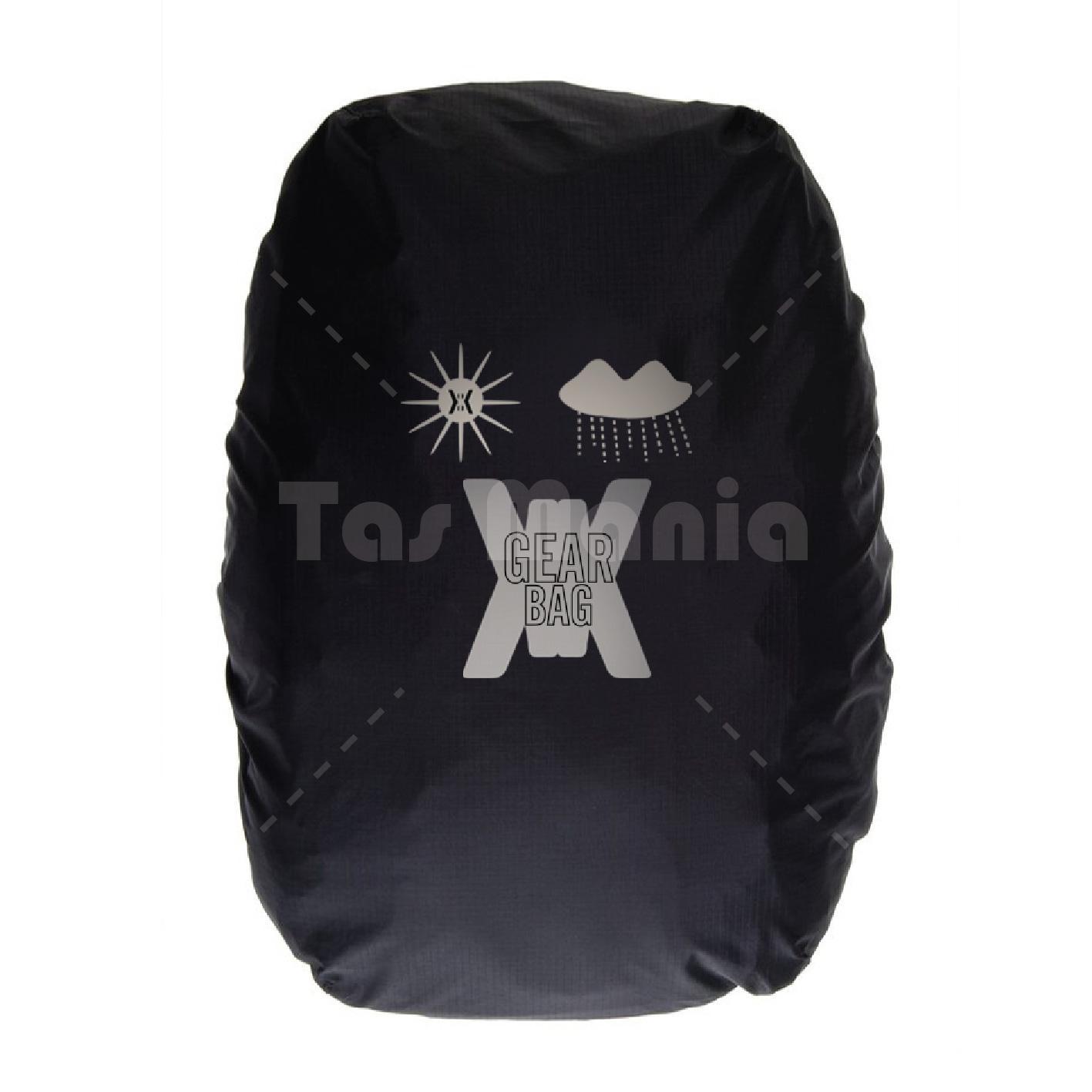 ... Tas Ransel Gear Bag Andromeda Tas Laptop Backpack - Silver Black S2 + Raincover + FREE