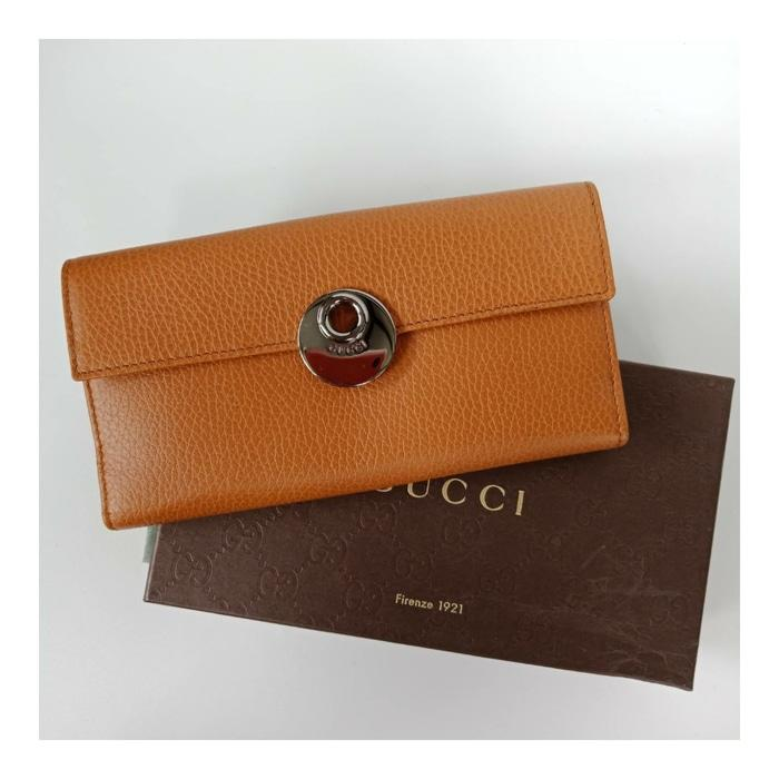 DOMPET GUCCI ORIGINAL - GUCCI ECLIPSE CONTINENTAL WALLET SAFFRON