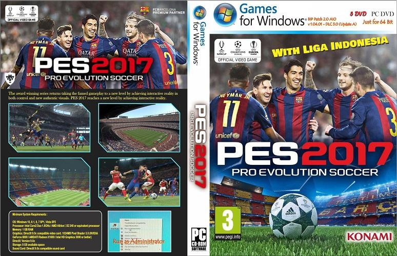 Pro Evolution Soccer 2017 (v. 1.04.01 DLC 3.0) PC - Full Update 2018