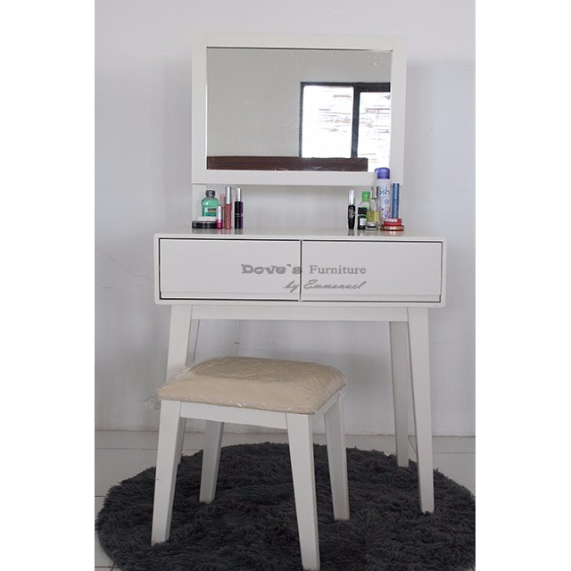 Dove's Meja Rias Minimalis MR-010 - With 2 Drawer - putih