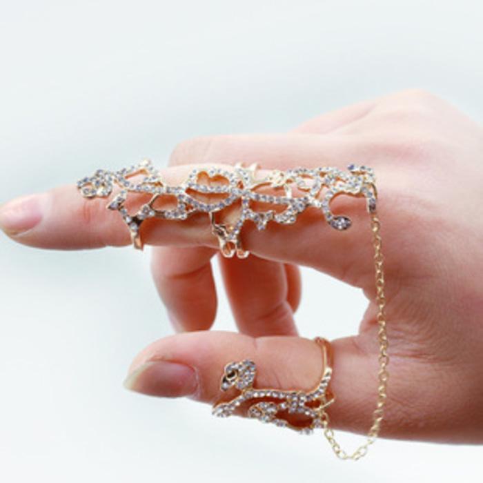 Cincin PanNUZg Emas Berlian / Long Ring Gold Diamond NEW003