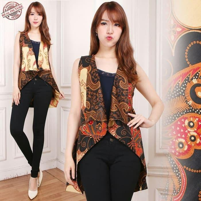 Atasan Blouse Batik Verlita Blazer Wanita