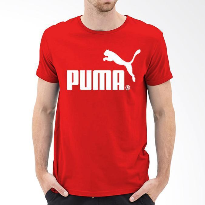 Basic Kaos T-Shirt Combed Adidas/Nike/Puma/Ua Basic Warna Merah Cabe - Sale Promo!!