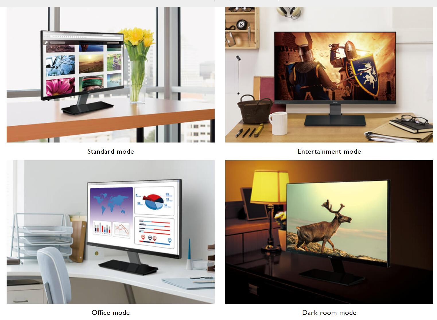 Benq Ew2445zh 24 Inch Full Hd Hdmi Entertainment Led Eye Care Ultra Slim Bezel 4 User Scenario Modes Offer The Best Viewing Experience