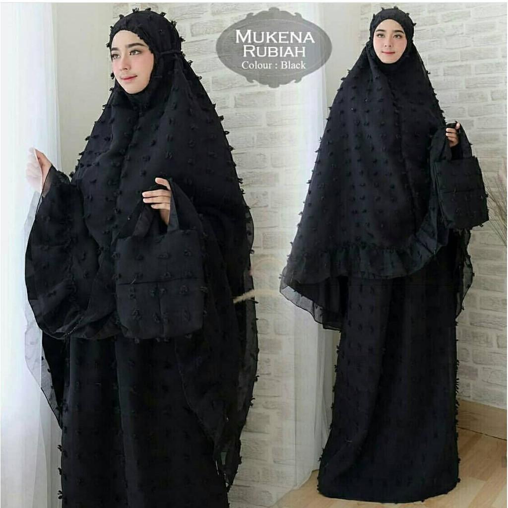 Mukena Rubiah Eksklusif Full Rubiah Furing Wolfis - Mukena Modern Mukena Rubiah Maroon