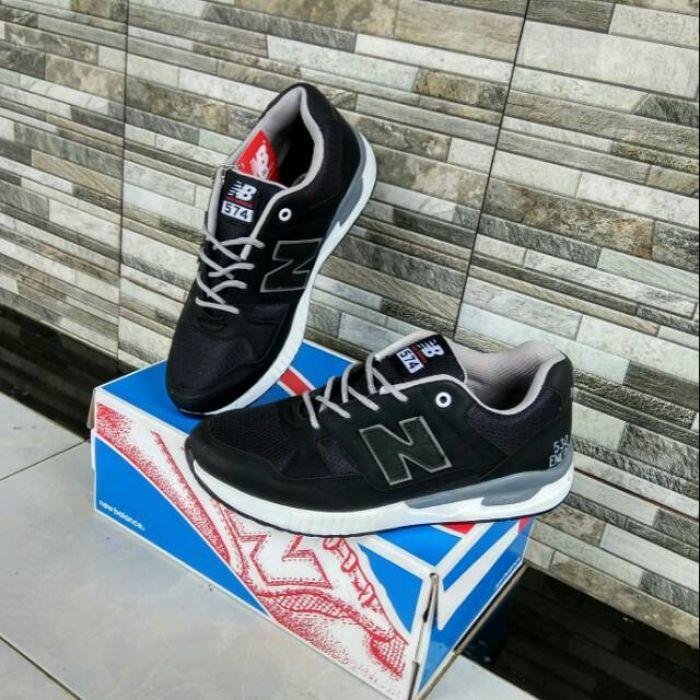 Sepatu Kets Sneakers Pria Casual NB New Balance Encap Abu-Abu Sport Cowok Murah
