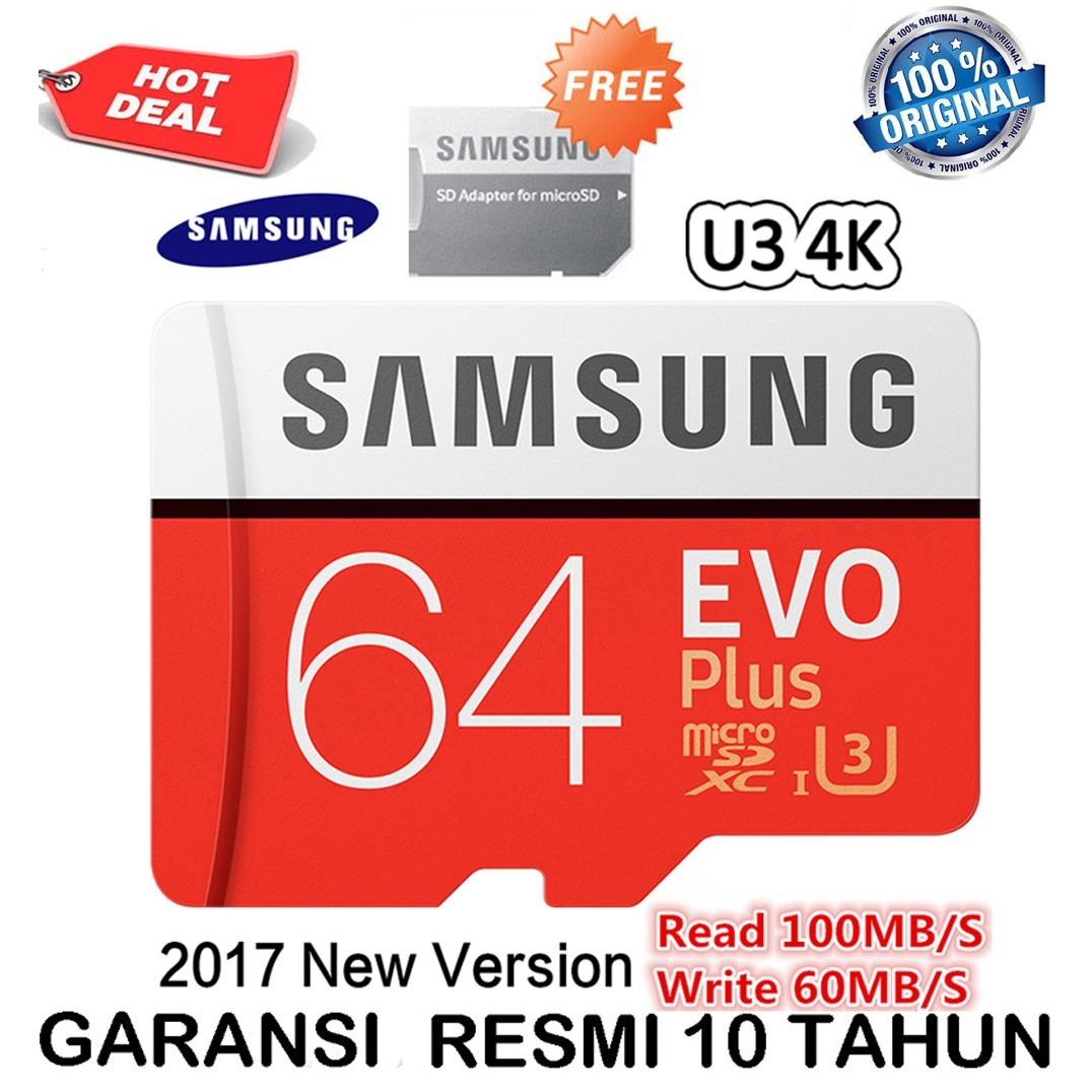 Samsung Evo Plus microSDXC 64GB/100MBs UHS3 4k with Adaptor