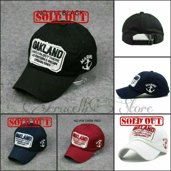 Topi Baseball Caps / Topi Casual Pria Murah / Topi Oakland Import Terlaris di Lazada