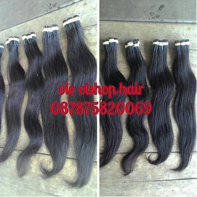 HAIR EXTENTION RAMBUT SAMBUNG HUMAN HAIR 55CM PER 100 HELAI - HOUSESHOPS