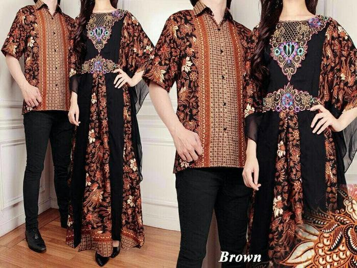 TERBARU Couple Batik Sutra RAFFI Brown PROMO