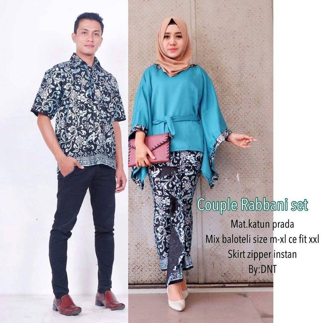 Batik Couple / Batik Sarimbit / Baju Kondangan Rabbani Set - Tosca