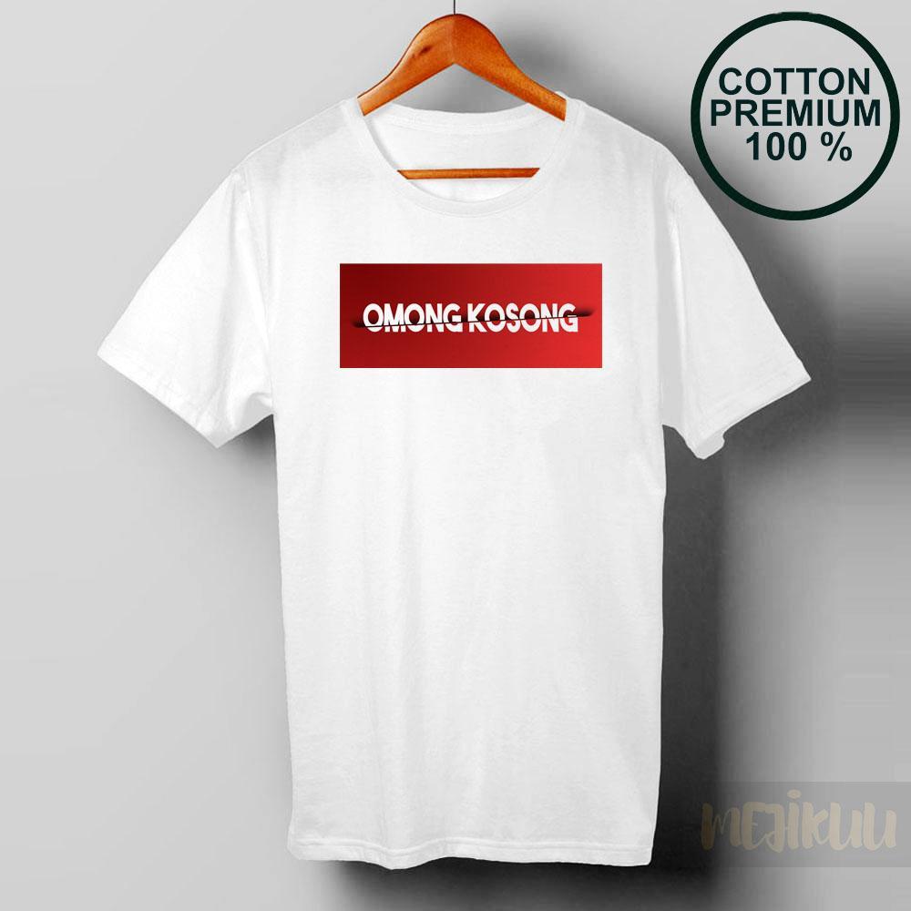 Mejikuu - Kaos Distro OMONG KOSONG RED / Baju Pria / Baju Wanita / Baju Distro - 25 Cotton Premium