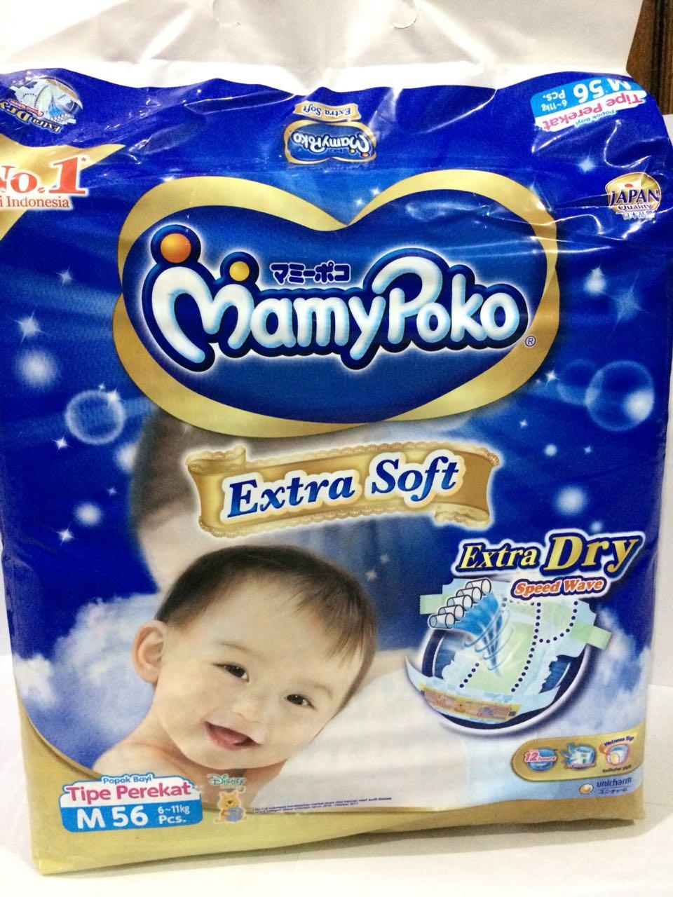 Kelebihan Mamypoko Extra Soft Dry Tape M72 Tipe Perekat L48 And M56