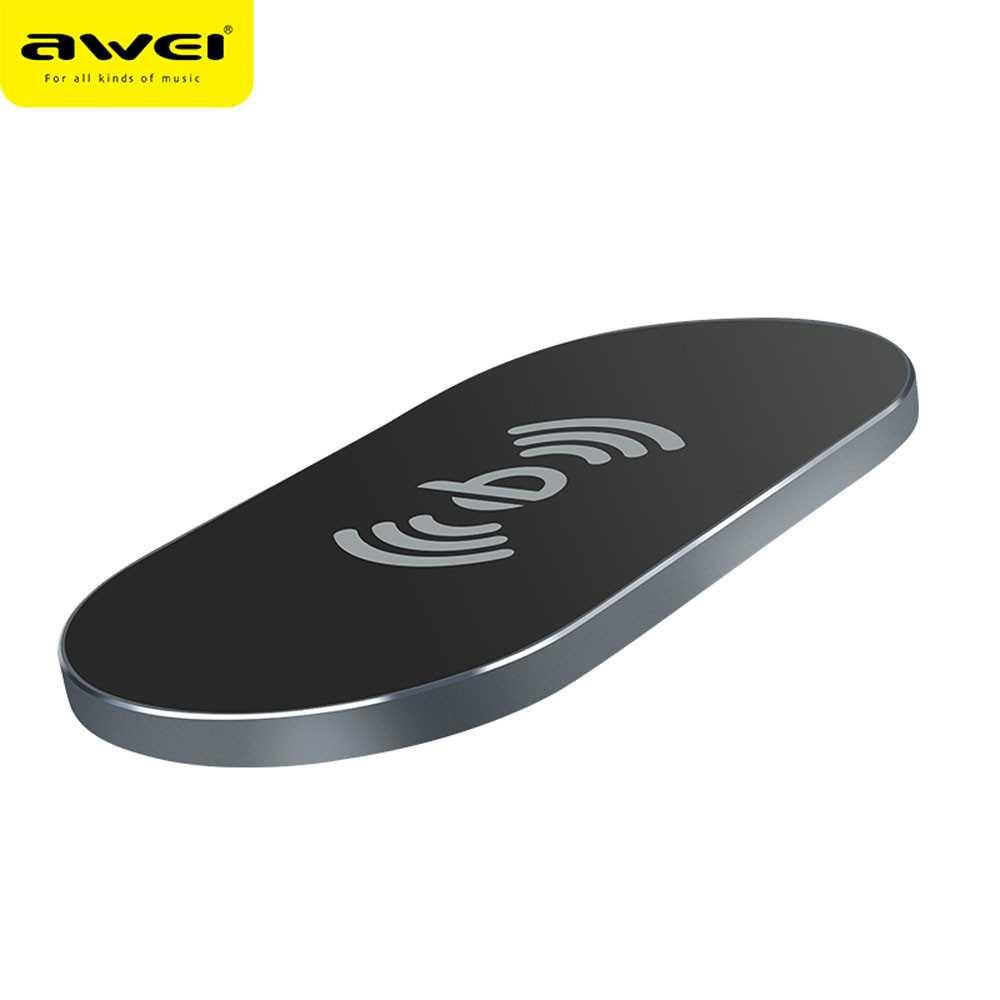 Charger xiaomi/Charger samsung/Charger mobil/Charger motor/Charger hp/Charger iphone/Charger oppo/Charger xiaomi original fast charging Awei Ultra Thin Qi Wireless Charger - W2