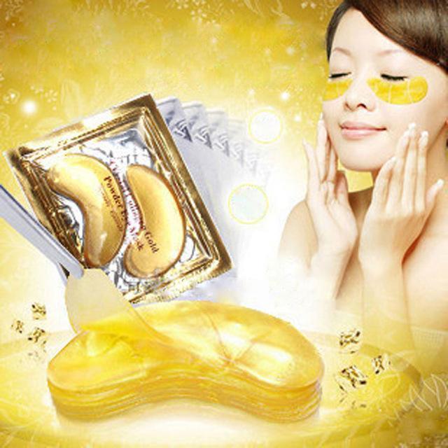 Masker Mata Crystal Collagen Gold / Black Eye Mask - 10 pcs
