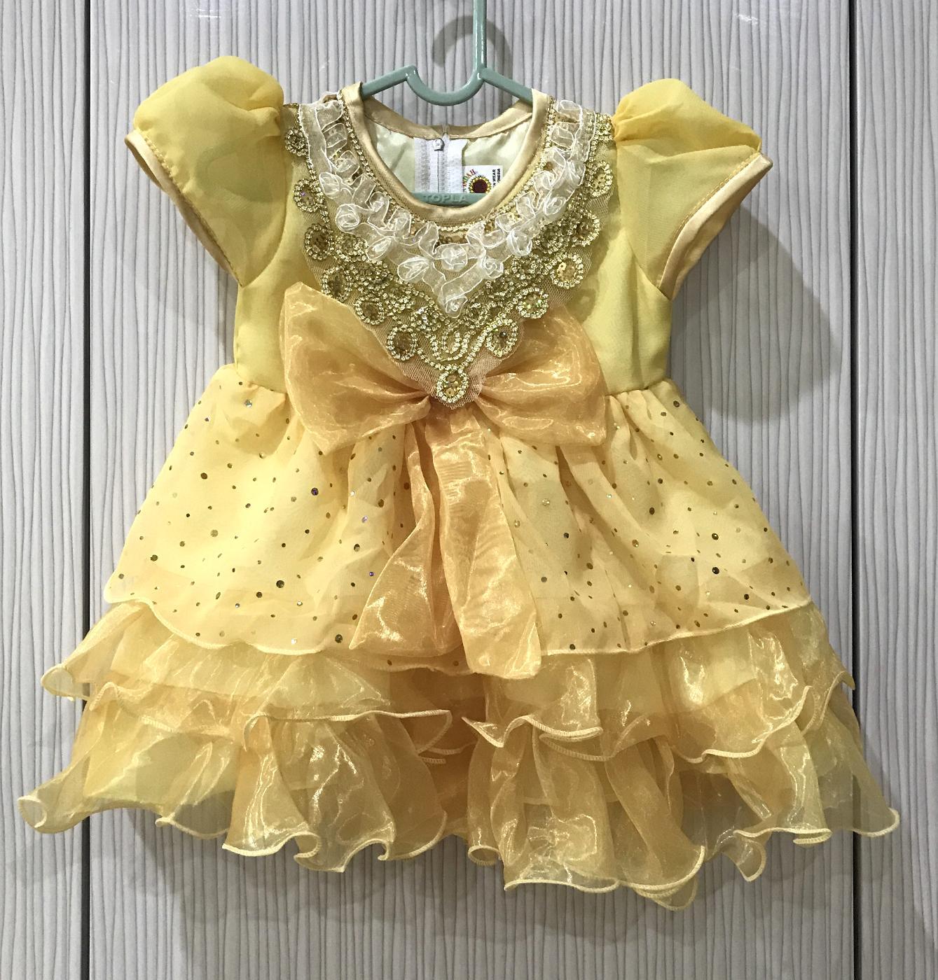 Cek Harga Baru Bayie Baju Bayi Pesta Anak Perempuan Model Pita Besar