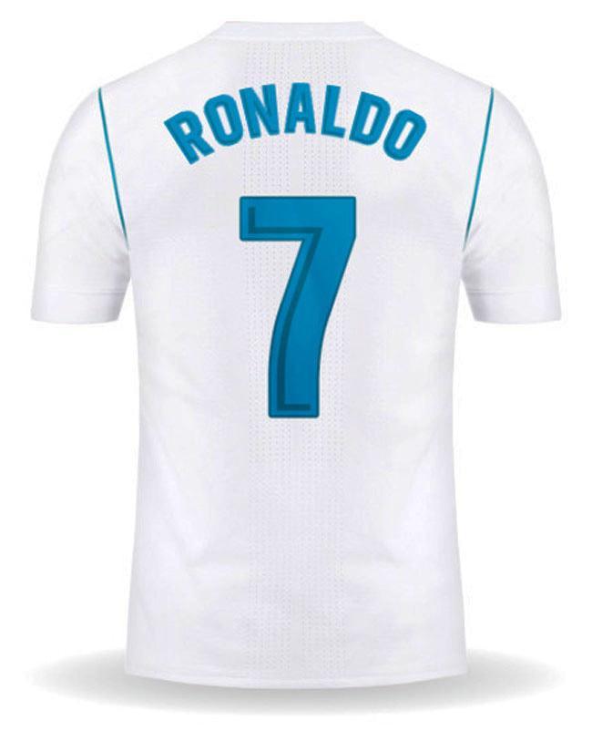 Jersey Bola #7 RONALDO Real Madrid Home 17/18 Font Laliga S, M, L, XL - 3g2Q5f