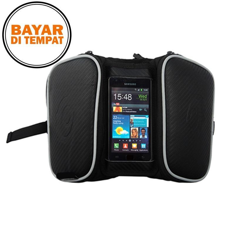 Rimas Roswheel Tas Sepeda Waterproof dengan Case Smartphone - Black Keren Unik Kekinian Berkulitas Original