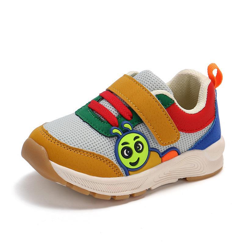 Sepatu anak-anak sepatu bersih 2018 musim gugur anak-anak sepatu olahraga ulat anak-anak sepatu fungsional 1-3 tahun bayi balita sepatu grosir Merah