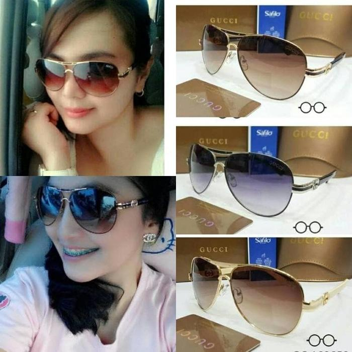 Kacamata Wanita Elegant / Gucci HK608 + Lensa anti Uv Protection