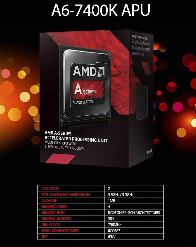 Processor AMD A6-7400K Socket FM2+