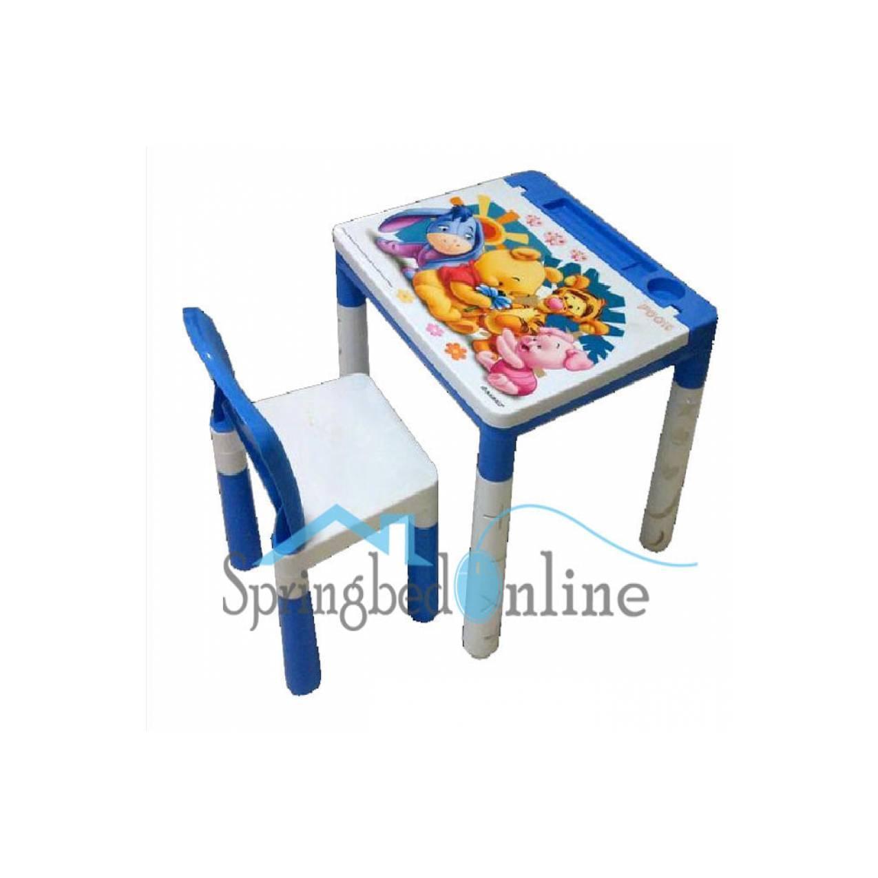 meja belajar dan kursi plastik knock down table & chair