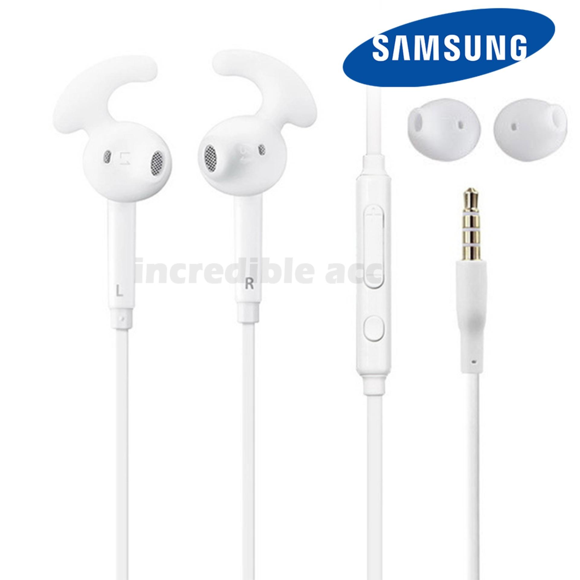 Samsung Headset In-Ear Handsfree EO-EG920 for Samsung Galaxy S5, S6, S7, S7 Edge 3.5mm Stereo Sports Earphone Bass HD Audio - White