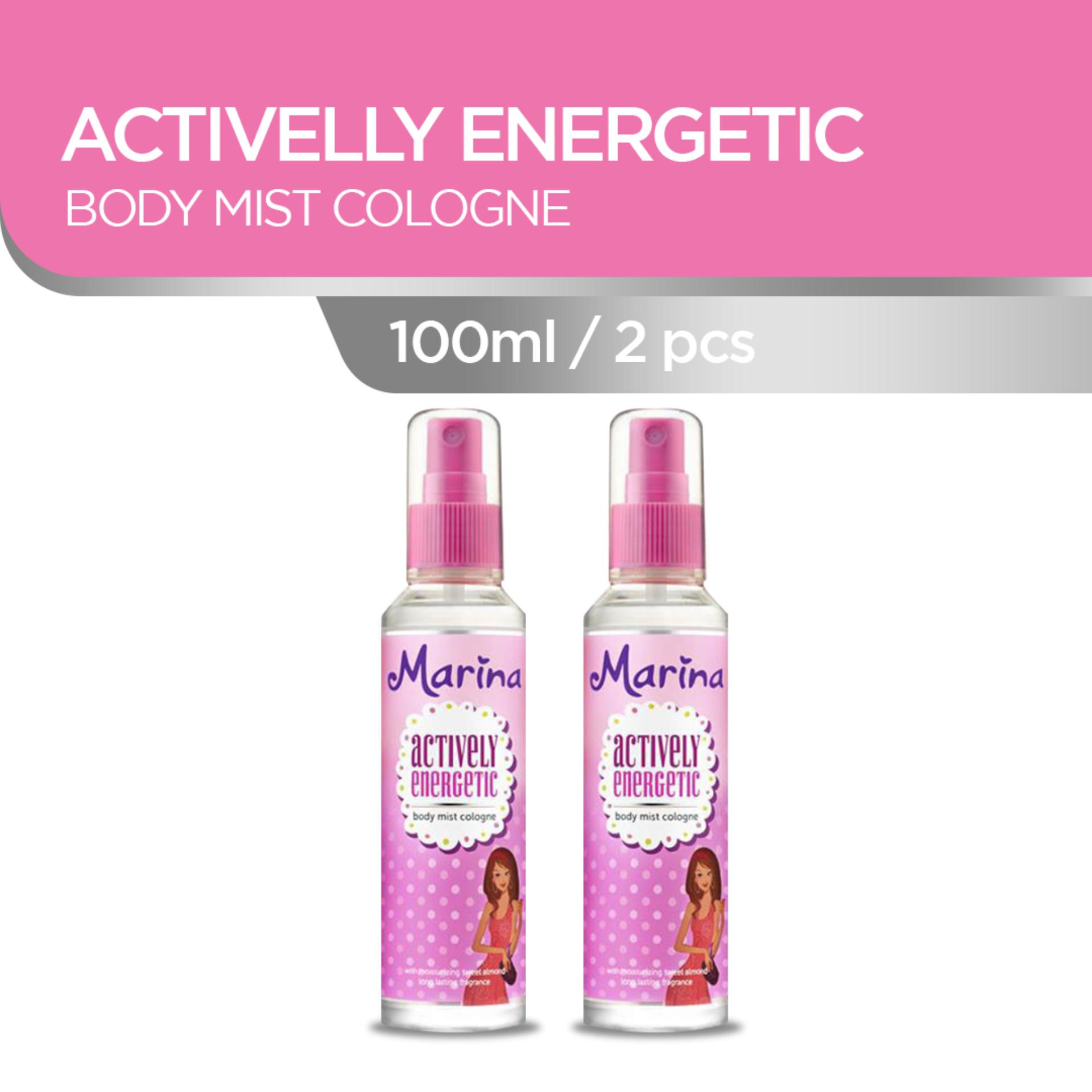Marina Actively Energetic Body Mist [100 mL/ isi 2 pcs]